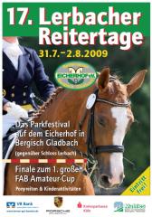 17. Lerbacher Reitertage - Plakat Eicherhof 2009