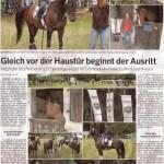 Gleich vor der Haustür beginnt der Ausritt - Bergische Landzeitung vom 19. April 2011
