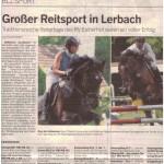 Großer Reitsport in Lerbach Traditionsreiche Reitertage des RV Eicherhof waren ein voller Erfolg Fotos: Thekla Zimmermann und Matthias Heider nahmen mit ihren Springpferden im Lerbacher Wald teil. Drei Tage lang war die Reitanlage gut besucht.