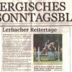 Lerbacher Reitertage - Auf der Anlage inmitten des Lerbacher Waldes können Pferdefreunde hochkarätigen Spitzensport verfolgen.