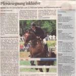 Pferdesegnung inklusive Der RV Eicherhof lädt zum 21. Mal zum Spring- und Dressurturnier ein. Foto: Auch der Bergisch Gladbach Klaus Köhler wird beim Eicherhof Turnier wieder am Start sein.