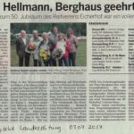 Maus, Hellmann und Berghaus geehrt - BLZ 07.07.2017