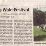 Traditionelles Wald-Festival - Der Reiterverein Eicherhof richtet wieder sein großes Reitturnier, die Lerbacher Reitertage, aus. Foto: Die schmucke Anlage im Lerbacher Wald lockt wieder viele Fans an.